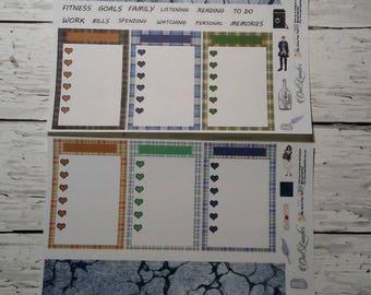 Outlander Notizen monatlich eine Seite Planner Sticker Kit