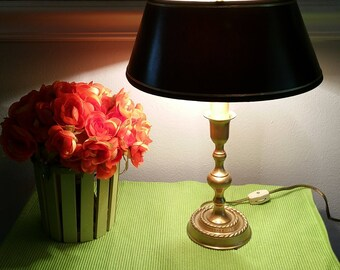 Leviton Brass Candlestick Lamp.