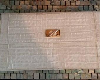 Veron Leather Envelope Clutch