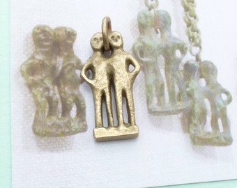 Lost Gods - Brass Replica of Ancient Etruscan Bronze - Probably Hera and Zeus