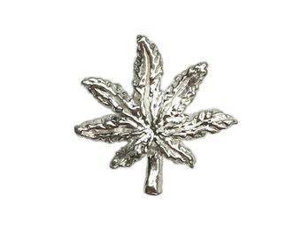 Silver Marajuana Stud (Single)