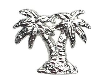 Silver Palm Tree Stud (Single)