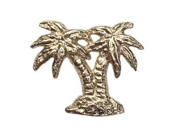 Brass Palm Trees Stud (Single)