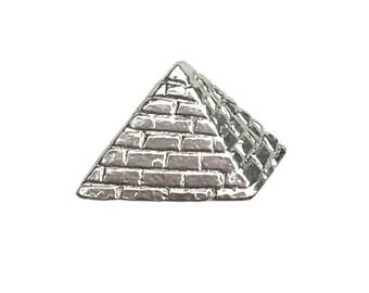 Silver Pyramid Stud (Single)