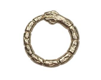 Brass Snake Stud (Single)