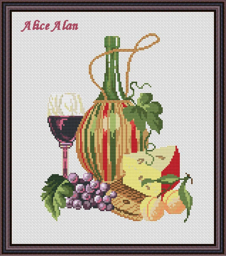 Still Life with Flowers in a Blue Jug Embroidery pattern Counted cross stitch pattern in PDF format Cross stitch design Cross stitch