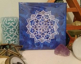 Light Blue and Dark Blue Mandalas