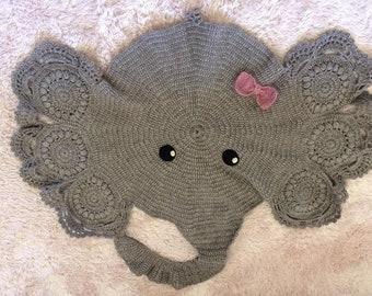 Gehäkelte Elefant Teppich Etsy