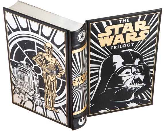 Donald Glut White - R2D2 Special Ed. Magnetic Closure Star Wars Handmade Book Safe Leather-bound the Trilogy by George Lucas