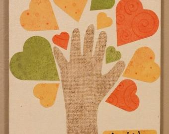Valentines Day Hand Print Family Kids Craft Kids Craft Etsy