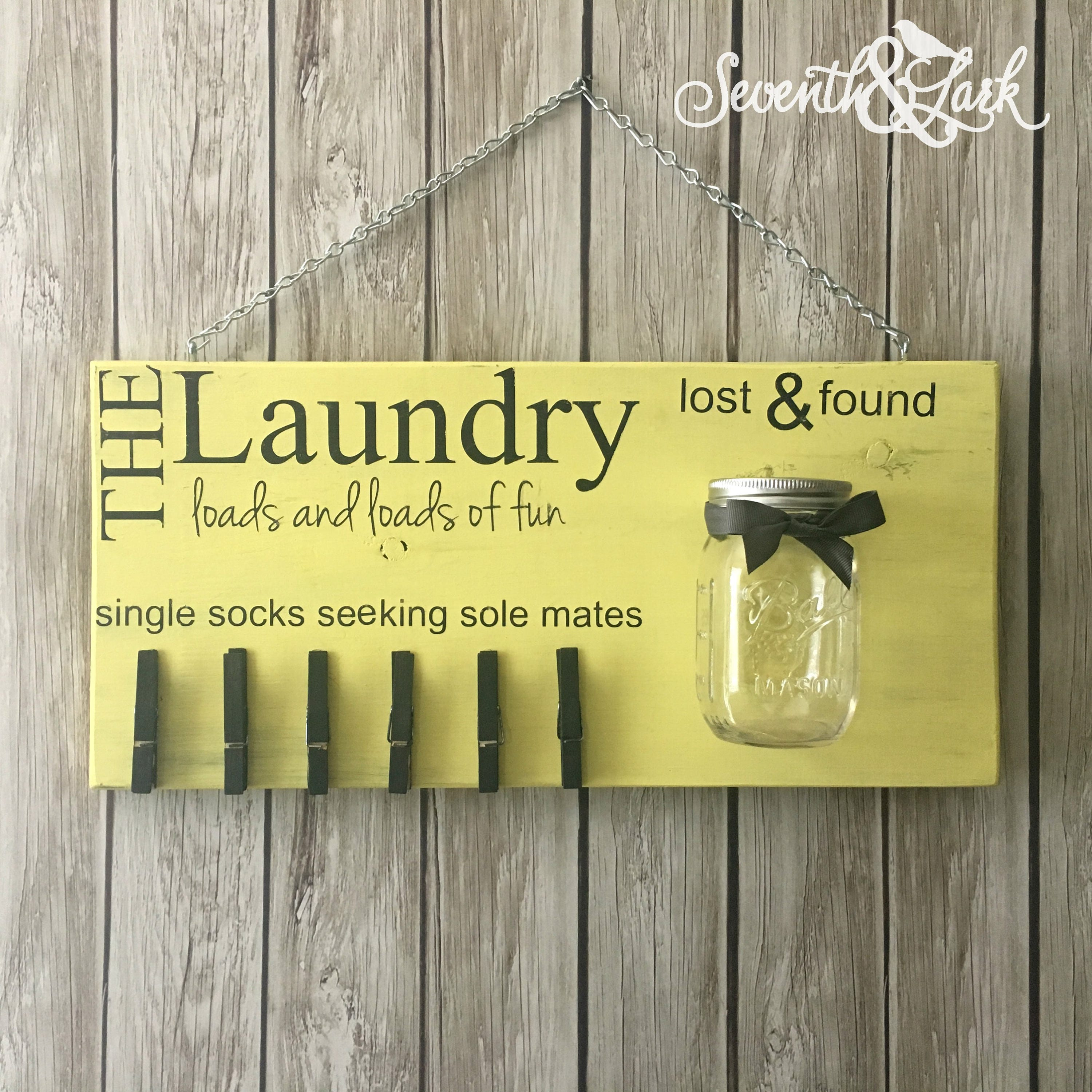 Diy Craft Kit Laundry Room Decor Laundry Sign Lost Socks Lost And Found Create Your Own Home Decor Do It Yourself Craft Kit
