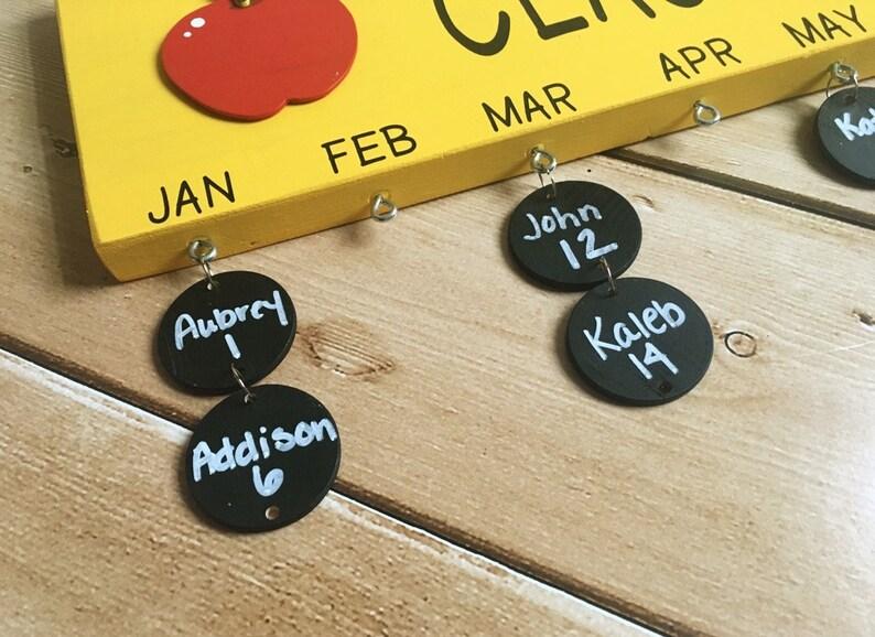 Kit DIY Kit Teacher Birthday Board Supplies Classroom Birthday Board Teacher Gift Do It Yourself Birthday Circles  Supply Kit