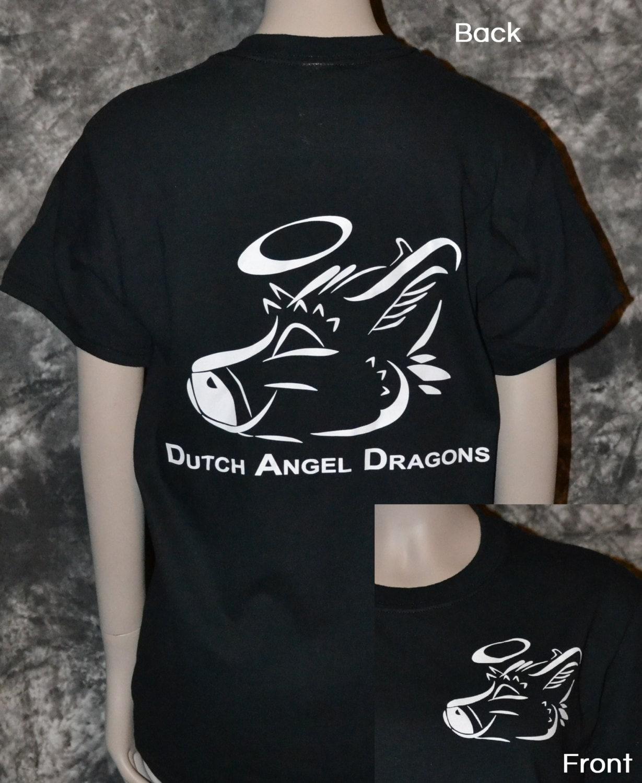 Dutch Angel Dragon 2 Sided Tshirt Etsy
