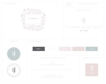 Floral Wreath Logo • Premade Logo • Blog Header • Floral Logo • Circle Logo • Simple Logo Design • Watermark • Photography Logo