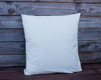 White  Pillow Cover, Decorative Pillow, Throw Pillow, Pillow Cases, Gift for Her, White Cushion, RE-USED