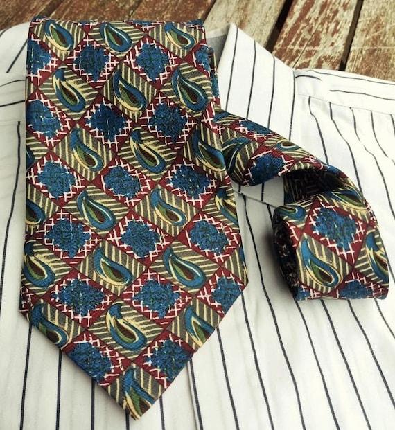Vintage Necktie Mens tie Retro tie Vintage Mens neckties Neckties Tie Accessories Mens Necktie Ties FREE SHIPPING Pattern  necktie