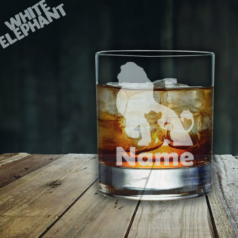Laser Etched Personalised Lion King Whiskey - 305ml
