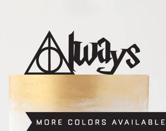 Always Harry Potter Cake Topper Deathly Hallows Wedding Party Event Decor