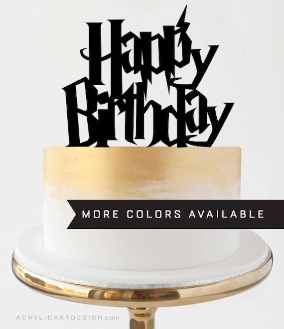 Happy Birthday Harry Potter Cake Topper By Acrylic Art Design Etsy