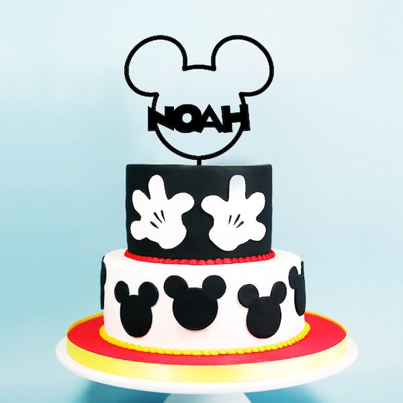 Mickey Mouse Cake Topper First Birthday Mickey Ears Mickey Etsy