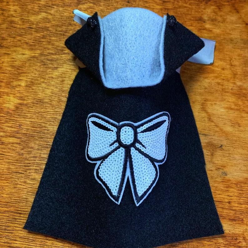 Bow or Crown felt mini pet cape