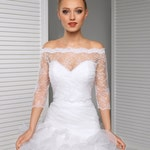 Off-Shoulder Lace Bolero Jacket Bridal Bolero