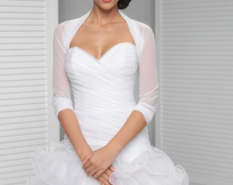 Simple Bridal Cover Up | Simple Bridal Shrug | White, Ivory, Black