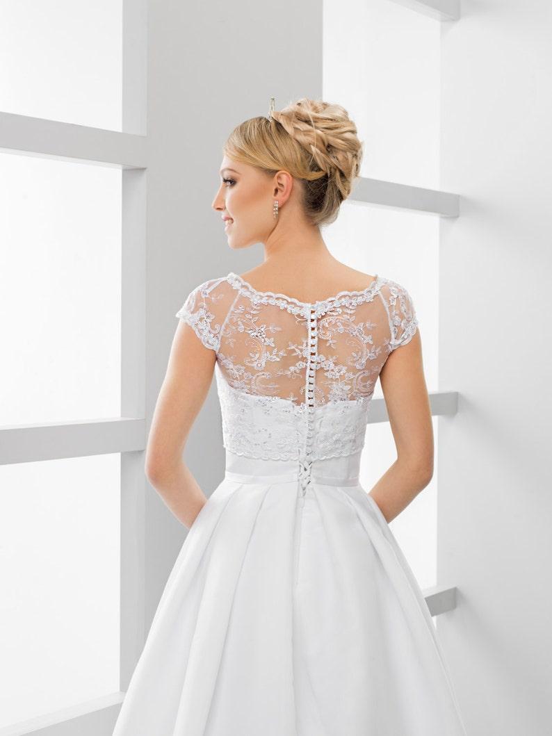 Bridal Crop Top Cap sleeve Bridal Lace Bolero Cap sleeve Bridal Lace Top