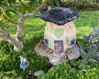 Outdoor Fairy House, Mushroom, Fairy House, Gnome Home, Garden Decor, Fairy Accessory, Collector Mushroom, Ceramic Fairy Home, fade proof