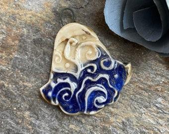 Artisan Charm, Pendant, Ceramic Charm, Handmade Ceramic, Boho Charm, Jewelry Supply, Necklace Bead, Pendant, Focal Bead