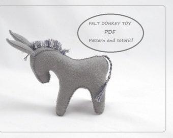 donkey pattern etsy