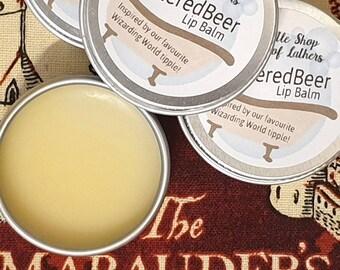 ButteredBeer Lip Balm - Harry Potter inspired - Cruelty Free - Moisturising Lip Balm - AllNatural balm - Butterbeer inspired Lip treat