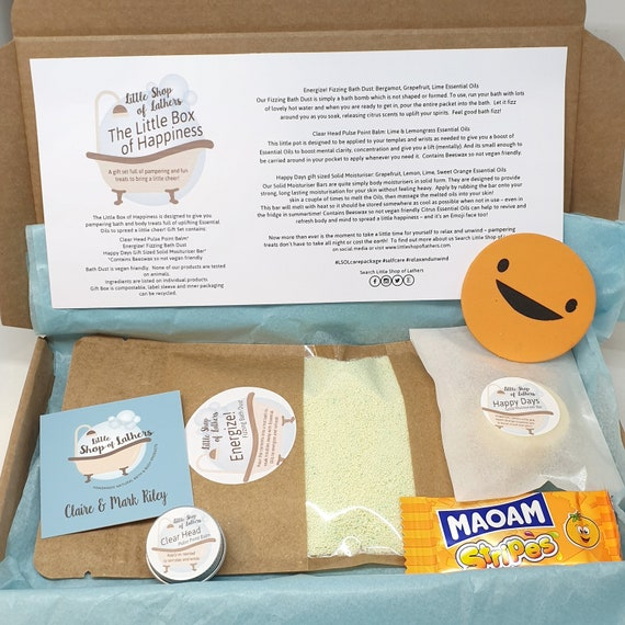 The Little Box of Happiness - Letterbox Gifts - selfcare gift set - Bath and body gift - Aromatherapy Giftset - Treat yoself Pamper Pack