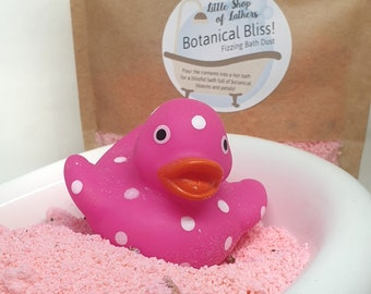 Botanical Bliss Bath Fizz -  Floral fizzing bath dust - Letterbox Gift - selfcare - Aromatherapy natural bath products - Send bath flowers