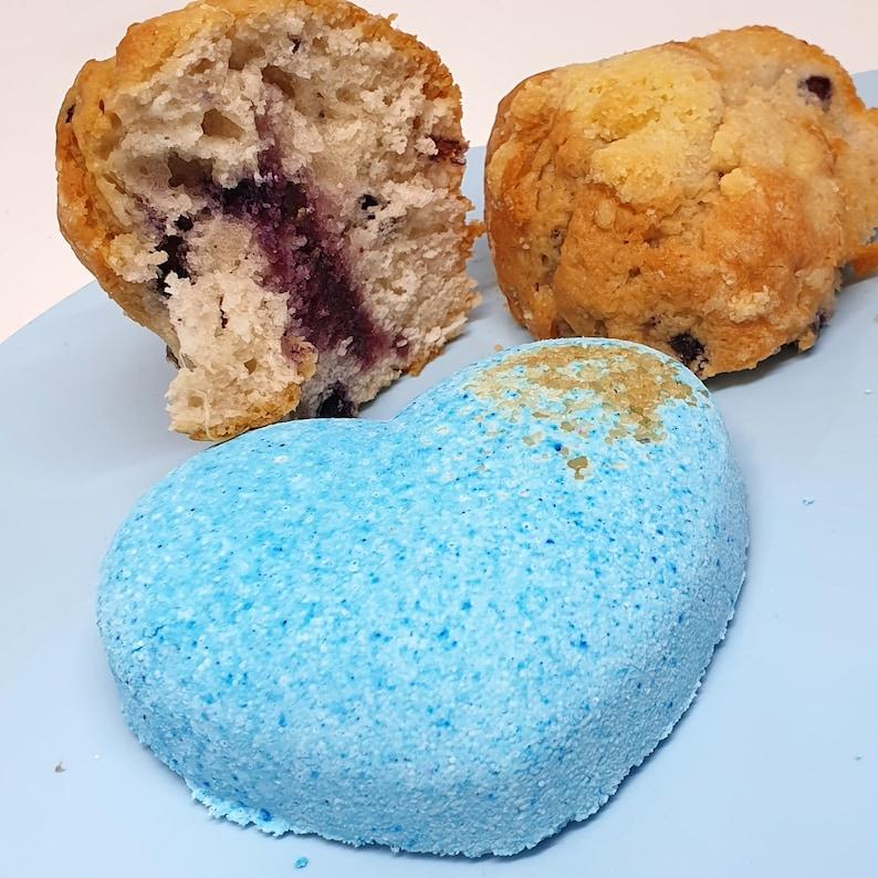 Blueberry Muffin Bath Bomb  Sweet Heart  Handmade image 0