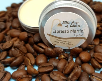 Espresso Martini Lip Balm - Calorie free Mocktail treat - Coffee lipbalm - Moisturising Lip Treat - natural zero waste balm - Easter gift