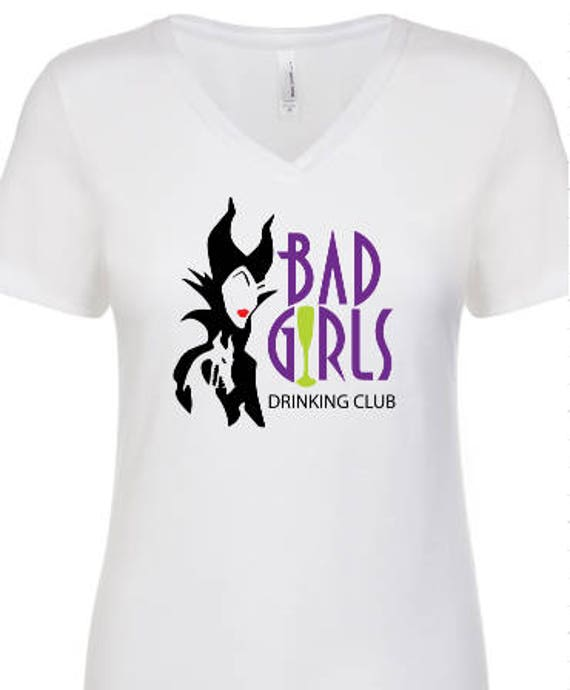 Bad Girls Drinking Club Maleficent T Shirt Disneyland Disney World Mickey Mouse Minnie Mouse Food And Wine Festival Epcot