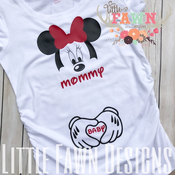 0e971cfca460b Minnie Mouse Mommy and Baby Maternity Shirt Disney Pregnancy | Etsy