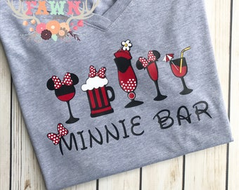 Minnie Bar T-Shirt - Disneyland - Disney World - Mickey Mouse - Minnie Mouse - Food and Wine Festival - Epcot