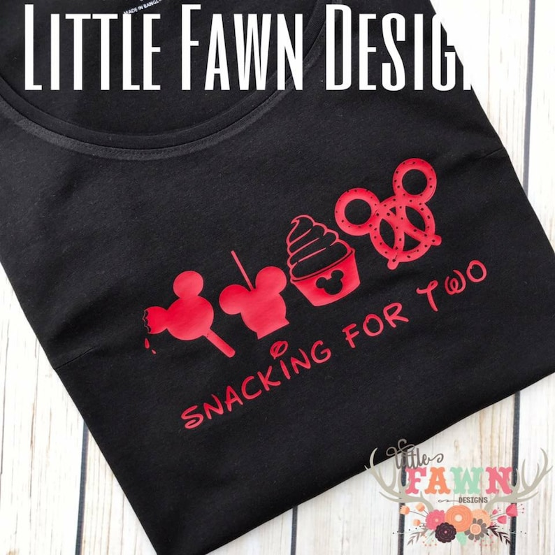31478a877fc Snacking For Two Maternity Shirt Disney Pregnancy