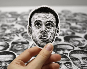 Scribbled Stephen Curry - Vinyl Sticker