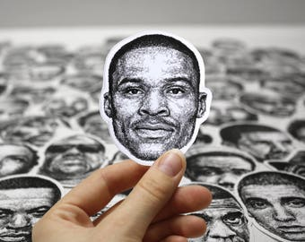 Scribbled Russell Westbrook - Vinyl Sticker