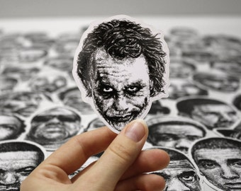 Scribbled Joker (Heath Ledger) - Vinyl Sticker