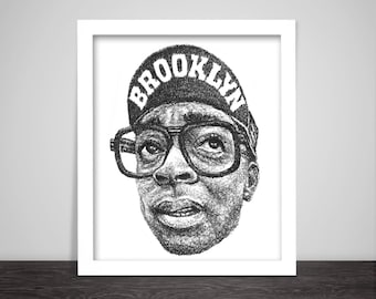 Scribbled Spike Lee - Poster