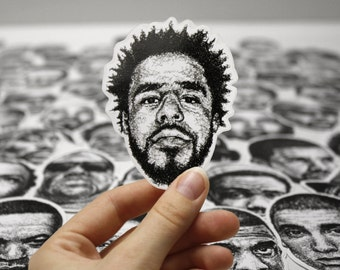 Scribbled J. Cole - Vinyl Sticker