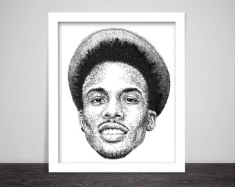 Scribbled August Alsina - Hip Hop Poster