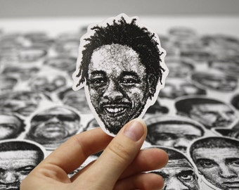 Scribbled Kendrick Lamar - Vinyl Sticker