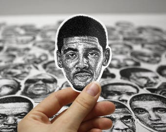 Scribbled Kyrie Irving - Vinyl Sticker