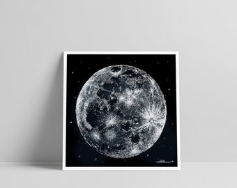 Scribbled Mother Moon - Poster