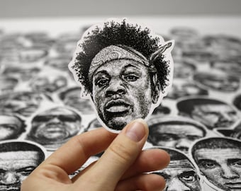 Scribbled Joey Badass - Vinyl Sticker